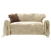 <strong>Sure-Fit</strong> Plush Throw Sofa Slipcover