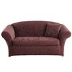 Sure-Fit Stretch Jacquard Damask Loveseat Slipcover