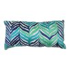 Trina Turk Tropical Leaves Embroidered Lumbar Pillow