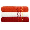 "Linum Home Textiles Montauk ""Zig Zag"" Bath Towel (Set of 3)"