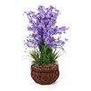 Nearly Natural Dancing Lady Silk Flower Arrangement in Purple