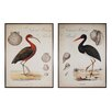 Sterling Industries Heron Anthology 2 Piece Framed Painting Print Set