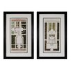 <strong>Sterling Industries</strong> Plan De La Villa Bolognetti I and Plan De La Villa Altieri 2 Piece Framed Graphic Art Set
