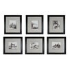 Sterling Industries Etchings 6 Piece Framed Graphic Art Set