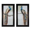 Sterling Industries Resting Peacock 2 Piece Framed Painting Print Set (Set of 2)