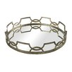 Sterling Industries Iron Scroll Mirrored Tray