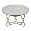 <strong>Sterling Industries</strong> Chain Side Table with Glass Top