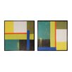 Sterling Industries Geometry 2 Piece Framed Graphic Art Set