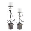 <strong>Sterling Industries</strong> 2 Piece Metal Branch Candelabra Set
