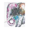 Sterling Industries Bold Elephant Oversized Oil Painting Print on Canvas