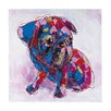 Sterling Industries Bold Puppy Oversized Oil Painting Print on Canvas