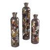 Sterling Industries 3 Piece Rainow Lacquered Floor Standing Vase Set