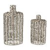 Sterling Industries 2 Piece Metal Work Vase Set