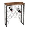 <strong>Sterling Industries</strong> Wood And Metal Small Console with Wine Rack