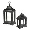 Sterling Industries 2 Piece Metal Lantern Set