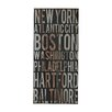 Sterling Industries American Cities Textual Art on Canvas