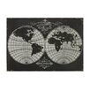 Sterling Industries Map Laser Of World Globe Graphic Art on Canvas