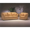 <strong>Omnia Furniture</strong> Manhattan 3 Seat Leather Living Room Set