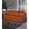 <strong>Omnia Furniture</strong> Chelsea Deco Leather Sleeper Loveseat