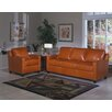 <strong>Chelsea Deco 3 Seat Leather Sofa Set</strong> by Omnia Furniture