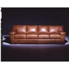 <strong>Prescott  4 Seat Sofa Leather Living Room Set</strong> by Omnia Furniture