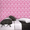 Damsel Temporary Wallpaper in Fuchsia / White