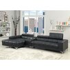 Hokku Designs Derrikke Plush Sectional with Speaker Console
