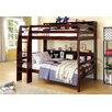 Hokku Designs Margerie Twin Over Twin Bunk Bed with Ladder