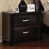 Hokku Designs Suave 2 Drawer Nightstand