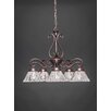 Toltec Lighting Olde Iron 5 Light Chandelier