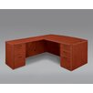 DMI Office Furniture Fairplex Right / Left Bow Front Executive Desk