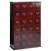 <strong>Library Style 24 Drawer Multimedia Cabinet</strong> by Leslie Dame Enterprises