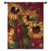 <strong>Fine Art Tapestries</strong> Classical Sunflowers II by White Tapestry