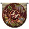 <strong>Fine Art Tapestries</strong> Abstract Cloisonne Ruby by Acorn Studios Tapestry