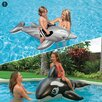 Intex 2 Piece Dolphin and Whale Ride On Pool Toy
