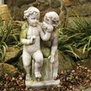 <strong>OrlandiStatuary</strong> Children Loving Twins Child Garden Statue