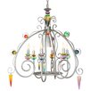<strong>Brazilian Nights Peacock 6 Light Chandelier</strong> by Van Teal