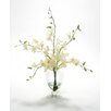 Distinctive Designs Waterlook® Silk Dendrobium Orchids in Footed Glass Urn