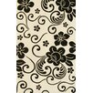 Noble House Floral White/Black Area Rug