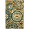 Mohawk Home Strata Teal Forest Suzani Area Rug