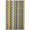 Mohawk Home New Wave Ziggidy Yellow Area Rug