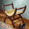 Design Toscano King's Curule Throne Wood Bench