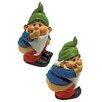 Design Toscano Stinky the Garden Gnome Statue (Set of 2)