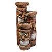 Design Toscano Cascading Aloha Tiki Three-Bowl Resin Tiered Fountain