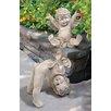 Design Toscano 2 Piece Topsy and Turvey Tumbling Cherub Statue Set