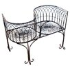 Design Toscano Tete a Tete Kissing Metal Garden Bench