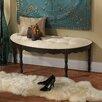 Design Toscano Marceau Half Crescent Bedroom Bench