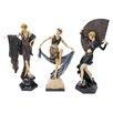 Design Toscano 3 Piece Flapper Follies Figurine Set