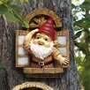 <strong>Design Toscano</strong> The Knothole Window Gnome Garden Welcome Tree Statue