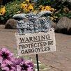 Design Toscano Posted Beware of Gargoyles Garden Sign